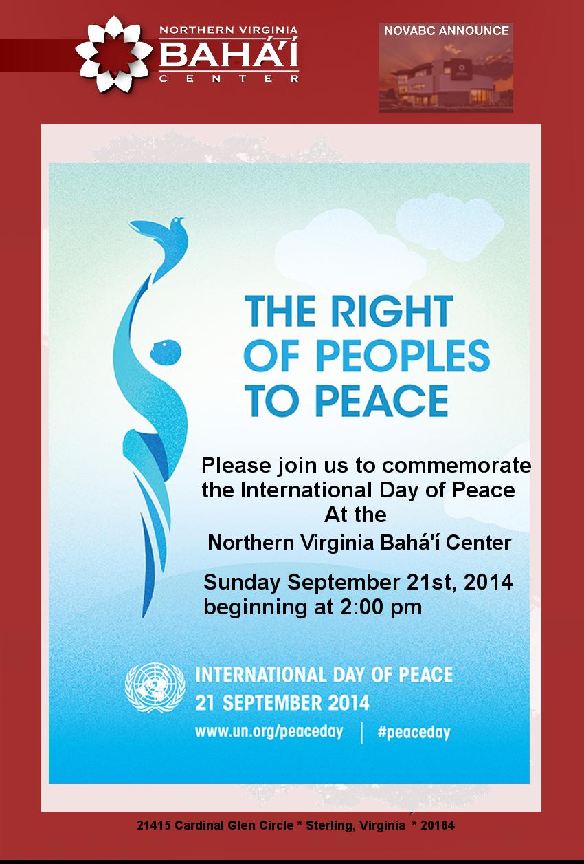 International Day of Peace September 21st 2014